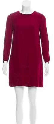 Steven Alan Silk Long Sleeve Dress