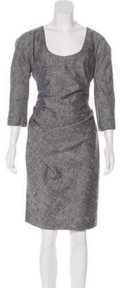 Christian Dior Silk Bouclé Dress