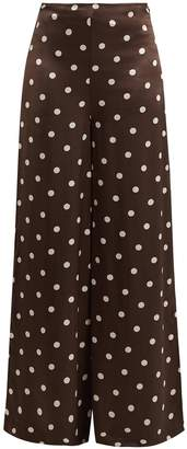 Ganni Cameron polka dot wide-leg trousers