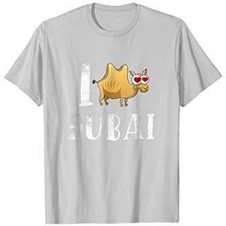 I Love Dubai UAE Cute T-shirt Travel Gift Funny Camel Tee