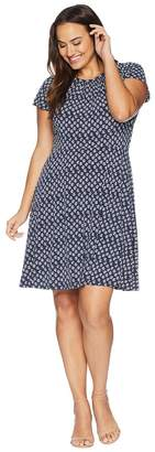 MICHAEL Michael Kors Size Abstract Batik Floral Dress Women's Dress