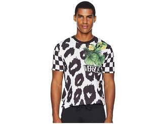 Versace Checkerboard Leopard T-Shirt
