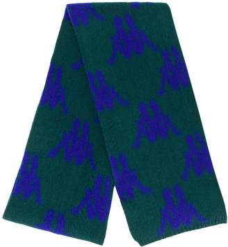 Kappa all-over logo knitted scarf