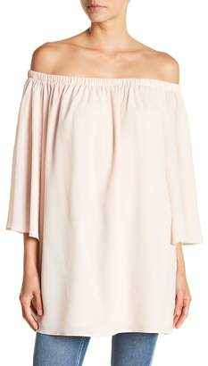 French Connection Crepe Off-the-Shoulder Tunic