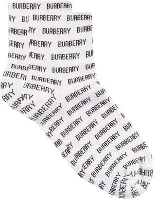 Burberry All-Over Lettering Socks