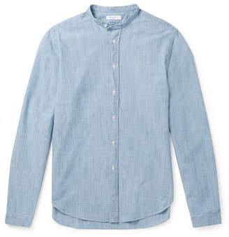 Boglioli Grandad-Collar Cotton-Chambray Shirt