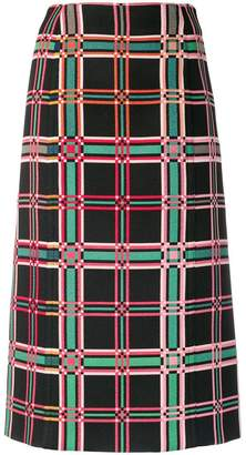 Fendi plaid print midi skirt