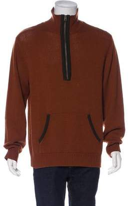 John Varvatos Wool Zip-Up Sweater