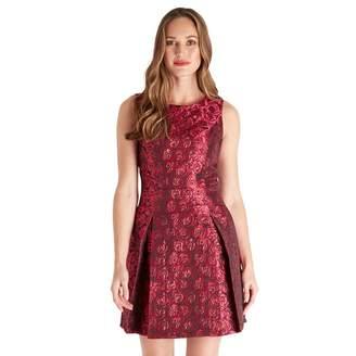 Joe Browns Red 'Jazzy Jacquard' Mini Skater Dress