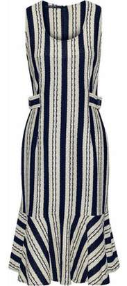 Derek Lam Striped Intarsia Cotton Dress