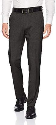 Kenneth Cole Reaction Men's Stretch Heather Tic Slim Fit Flat Front Dress Pant
