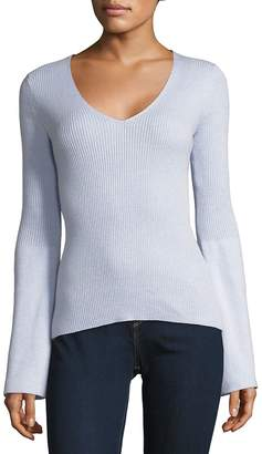 French Connection Women's Long-Sleeve Ribbed Top