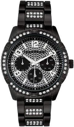Sean John Men Dress Sport 3 Hands Black Base Metal Bracelet Watch 46mm