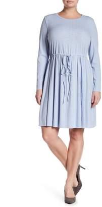 Glamorous Drawstring Waist Tunic Dress (Plus Size)