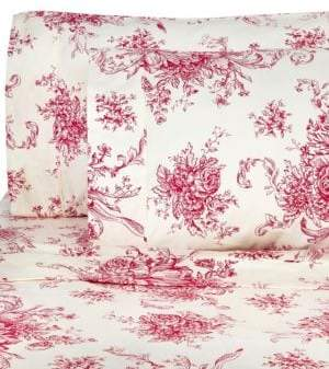 Melange Home 400 Thread Count Cotton Toile 4-Piece Sheet Set
