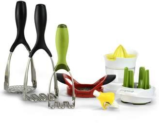 Prepara Kitchen Tools Food Mashing, Misting, Juicing & Slicing Kit (7 Piece Set)