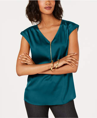 JM Collection Zip-Front Blouse, Created for Macy's