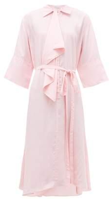 J.W.Anderson Ruffle Trim Asymmetric Shirtdress - Womens - Pink