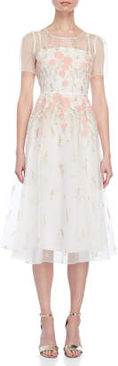 Blugirl Sheer Embroidered Dress