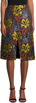 Derek Lam 10 Crosby Derek Lam Floral A-Line Skirt