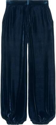 Gucci Velvet harem pants