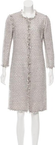 Andrew Gn Andrew Gn Metallic Tweed Coat