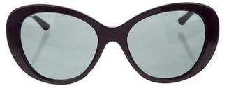 Versace Gradient Round Sunglasses
