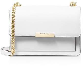 MICHAEL Michael Kors Large Jade Gusseted Leather Shoulder Bag