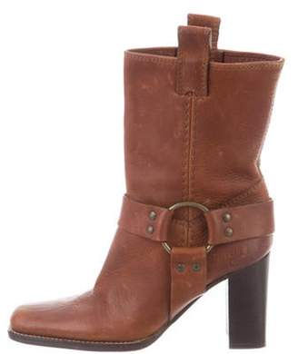 Michael Kors Leather Mid-Calf Boots Brown Leather Mid-Calf Boots