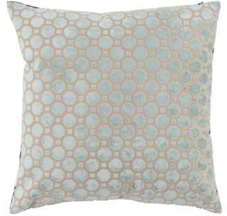 DecMode Decmode Modern 17 X 17 Inch White Throw Pillow With Geometric Patterns