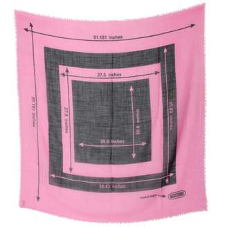 Moschino Pink Wool Scarves
