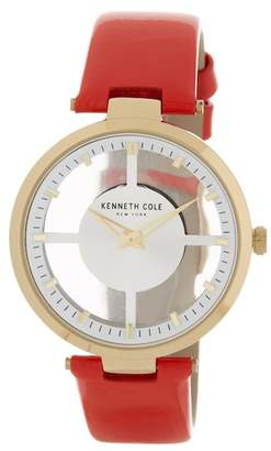 Kenneth Cole New York Women's Transparency Leather Strap Watch, 36mm