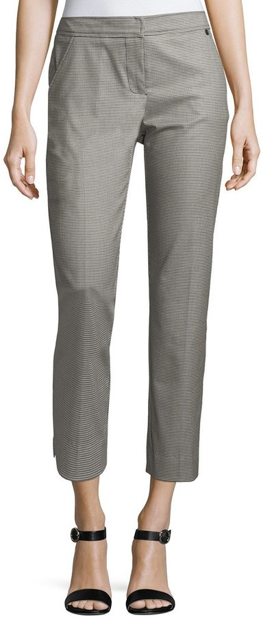 Trina Turk Moss Houndstooth Cropped Pants