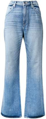 Hudson faded flared jeans