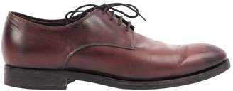 Canali Burgundy Leather Lace ups