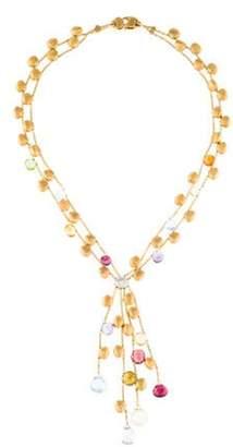 Marco Bicego 18K Multistone & Diamond Multistrand Necklace yellow 18K Multistone & Diamond Multistrand Necklace