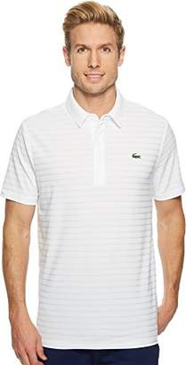 Lacoste Men's Golf Short Sleeve Ultra Dry Tech Jersey Solid Jaquard Polo