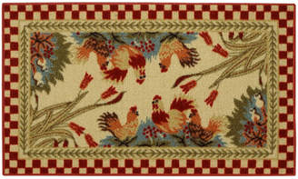 Andover Mills Beauchesne Rooster Checker Kitchen Mat