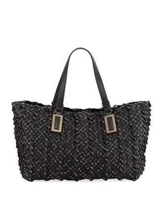 Bottega Veneta Lido Chain Woven Tote Bag