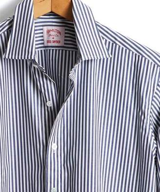 Hamilton Made in the USA + Todd Snyder Dress Shirt in Navy Bengal Stripe