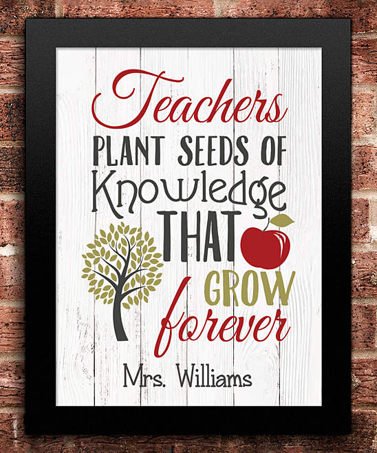 'Plant Seeds of Knowledge' Personalized Print