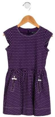 Lili Gaufrette Girls' Polka Dot A-Line Dress