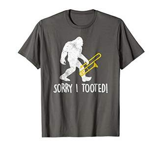 Funny Trombone Player Gift Sorry I Tooted Bigfoot T Shirt