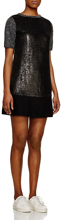 Moncler Moncler Abito Metallic Dress