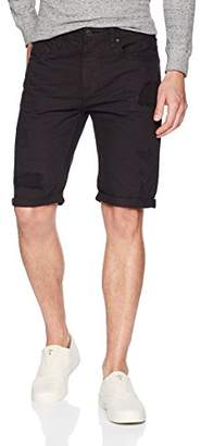 Buffalo David Bitton Men's Parker-x Slim Fit Whiskered and Repaired Denim Short