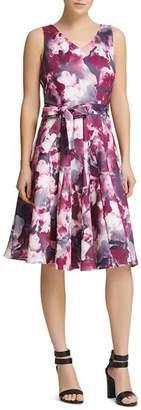 Donna Karan Floral Scuba Dress