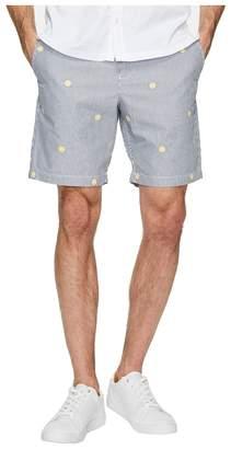Original Penguin Vertical Yarn-Dye Stripe Shorts w/ Embroidery Men's Shorts