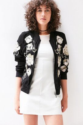 Kimchi Blue Molly Embroidered Bomber Jacket $129 thestylecure.com