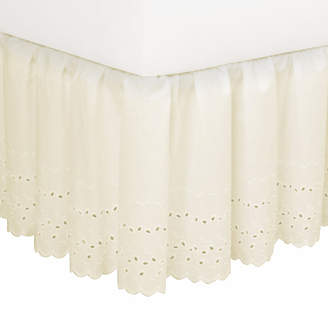 August Grove Nayara Eyelet Extra Long 145 Thread Count Bed Skirt