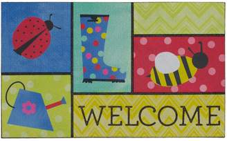 Mohawk Home Garden Patches ''Welcome'' Rubber Doormat - 18'' x 30''